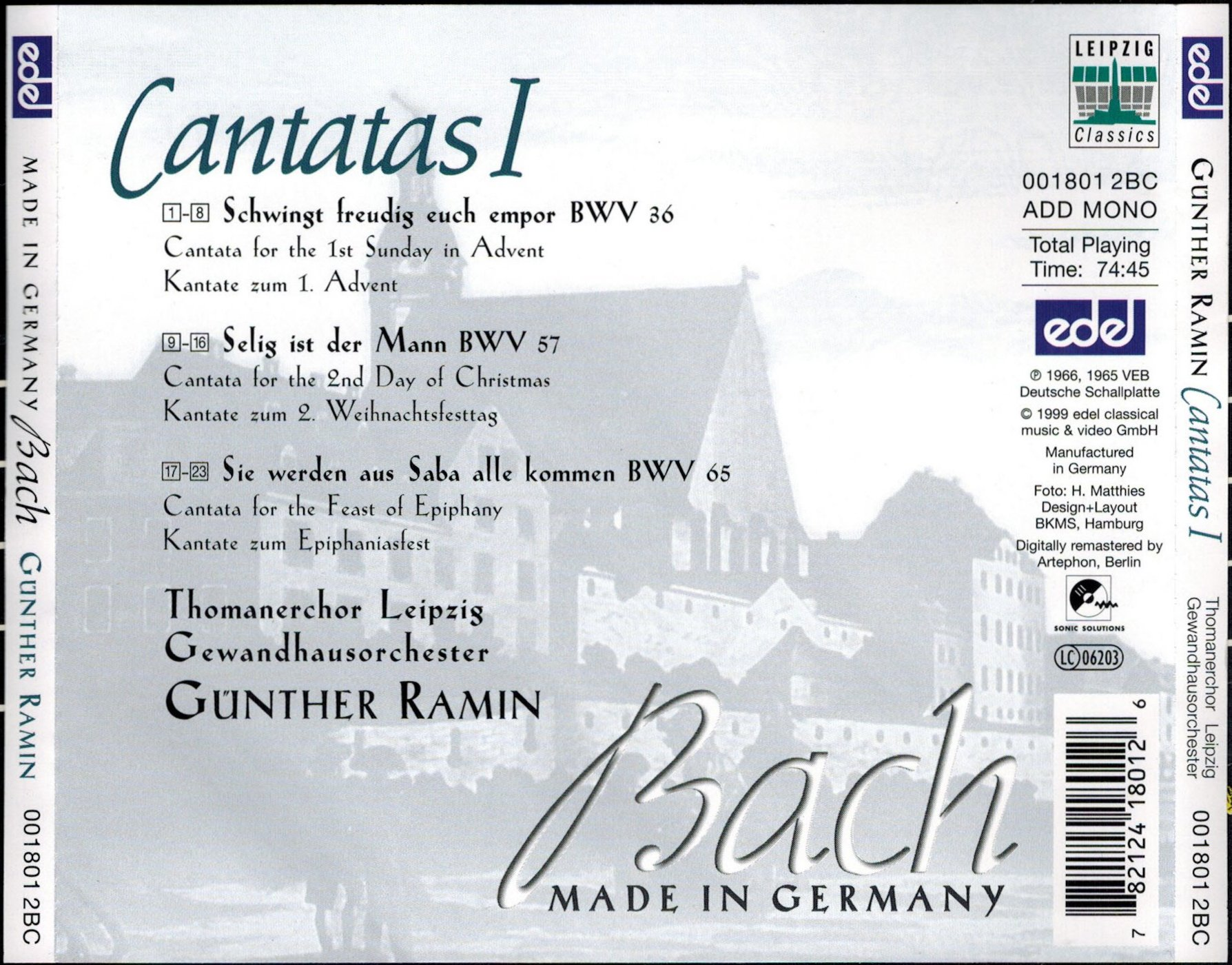 Anette Michel H cantata bwv 57 - details & discography part 1: complete